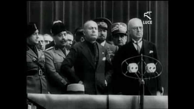 MUSSOLINI SPEECH TORINO 1932