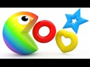 Learning Colors and Shapes with 3D Pacman for Kids