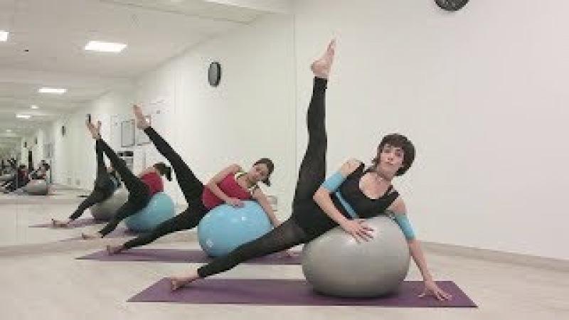Fit ball Pilates clase completa (Prod. Pato Echeve)
