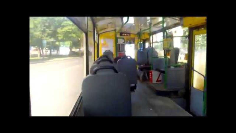 Моя весёлая поездка в троллейбусе TROLZA 682Г016 №141
