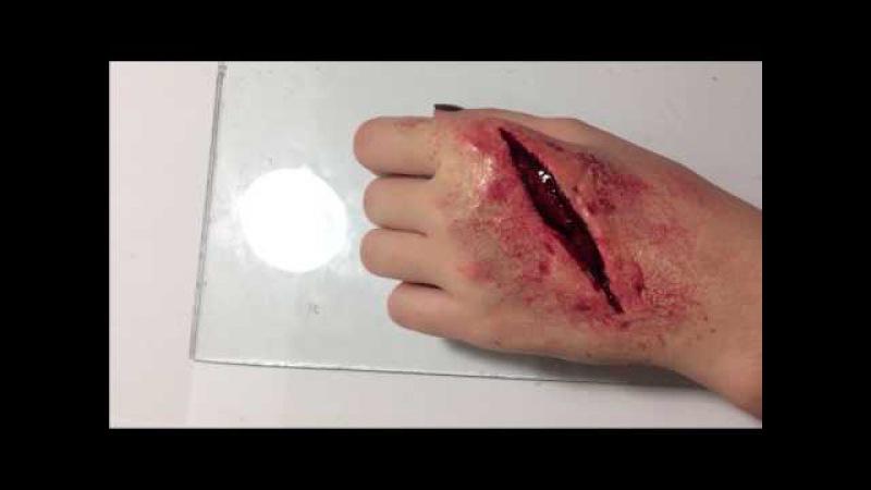 Как сделать РАНУ на руке Кровавый порез How to make the wound
