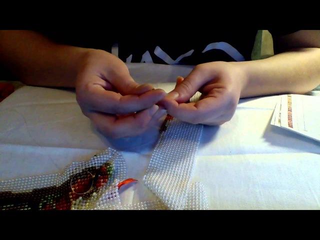 Плетение картины бусинами Принцип