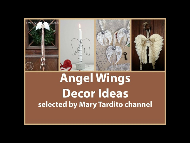 Декор в виде крыльев ангела – очень романтичное украшение интерьера к Новому году либо Дню Святого Валентина.