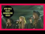 KPOP IDOLS TALENT HARMONIZING VOICES - BTS REDVELVET EXO BLACKPINK TTS ETC