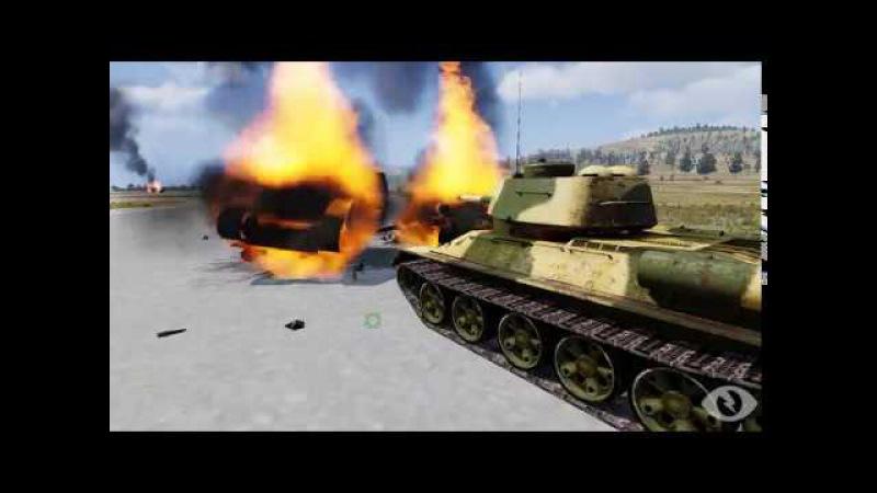 ArmA 3 m1a abrams против T 34-85