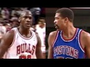 Michael Jordan What a Move on 7 Footer James Edwards - Merry Christmas James!