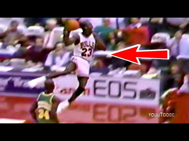 Michael Jordan Finishes Seattle Off With an Amazing Leaner Dunk in Overtime!
