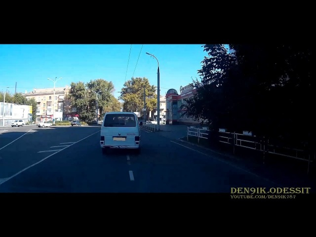 Херсон дорога с жилпоселка в центр осень , прогулка на автомобиле