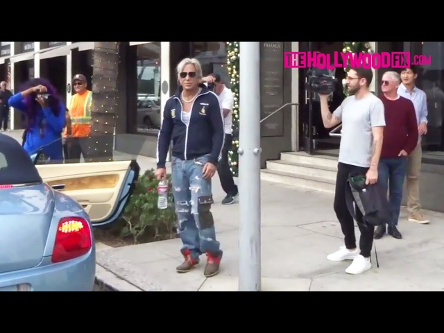Mickey Rourke Appears Happy Healthy While Leaving Lunch At Cafe Roma In Beverly Hills 11.15.17