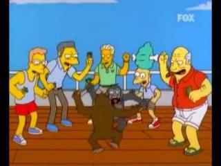 Pelea a machete entre dos monos | Los Simpson