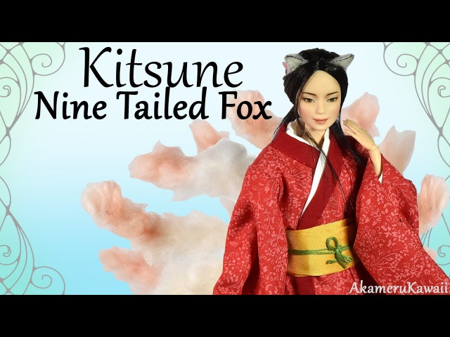 How to: Nine Tailed Fox / Kitsune - Barbie Doll Repaint Tutorial