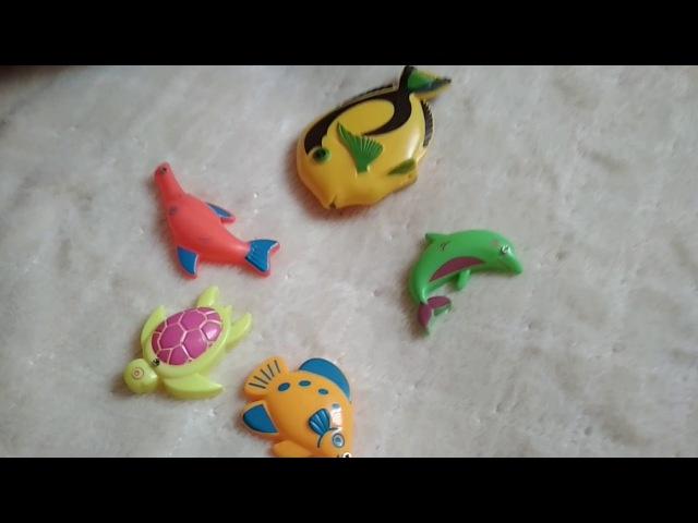 Игра Рыбалка магнитная, с рыбками и удочкой. Никите 2,5 года. Рыбалка дома.