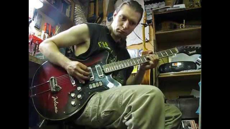 Maxim A. Khomchik plays Jolana Special guitar