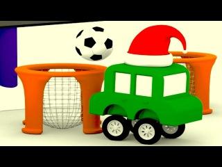 Dört küçük araba yeni yıl kutluyor. Acaba yılbaşı ağacı nasıl süslenir?