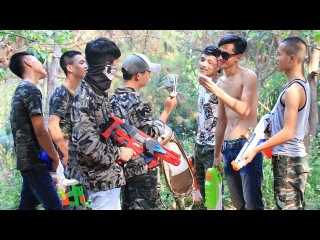 3T Nerf War : Squad Alpha Detective Nerf guns Battle Drug Gangs