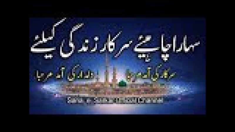 Sahara Chahiye Sarkar Zindgi Liye Hafiz Tahir Qadri Naat