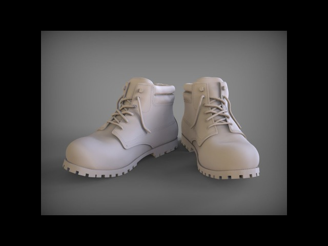Моделирование ботинок в 3D Coat ч. 4. Boot modeling in 3D Coat part 4.