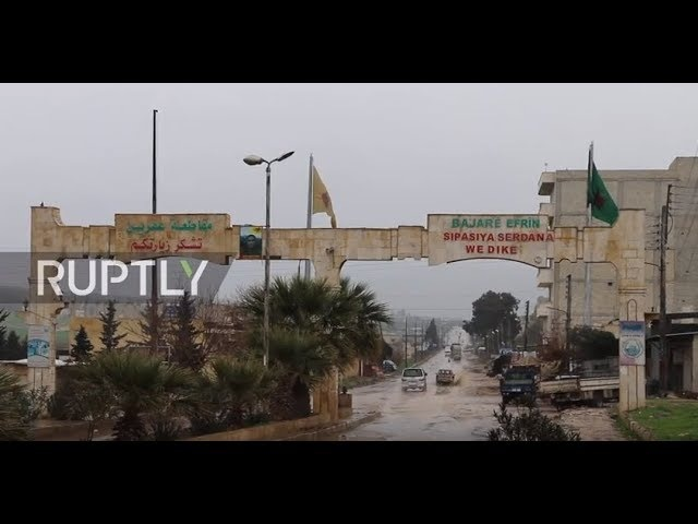 Syria: Temporary base erected in Afrin ahead of reported deal between pro-Syrian gov. forces and YPG