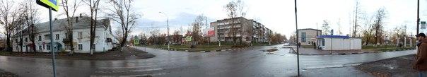 Панорамный вид на перекрёсток  Зимняя версия окружения: https://vk.com/photo16174219_456260185  14 ноября 2017