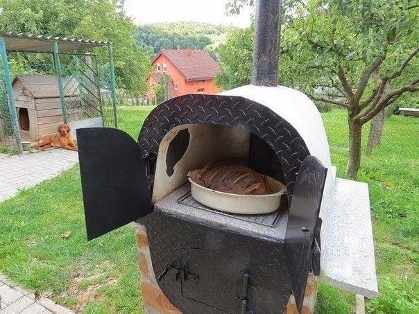 Русская печь в саду своими руками 23