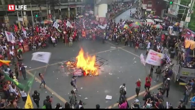Масштабные протесты в Филлипинах