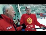 Владимир Юрзинов и Кирилл Капризов. Работа на тренировке