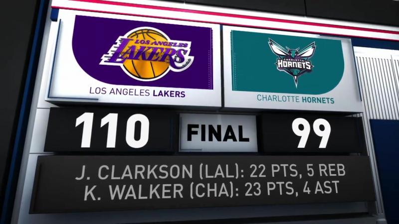 Лучшие моменты матча Los Angelas Lakers vs. Charlotte Hornets | 10.12.17