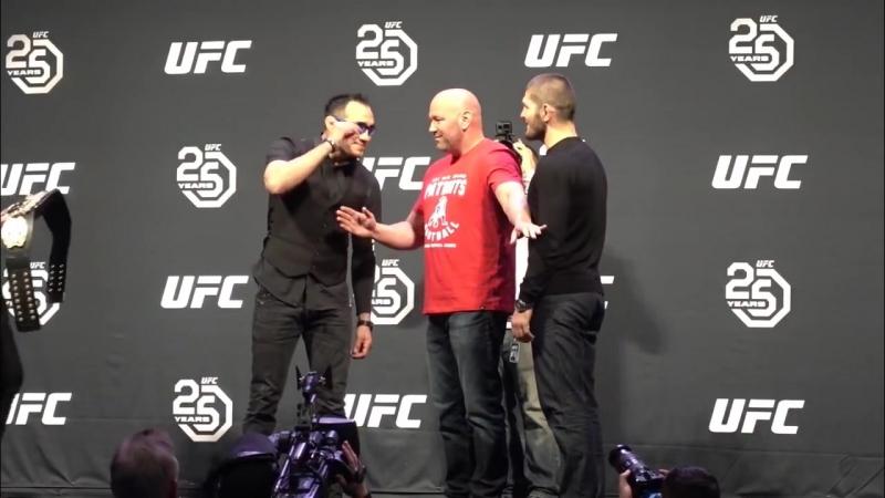 [MMAnytt.se] Tony Ferguson vs Khabib Nurmagomedov Staredown l UFC 223