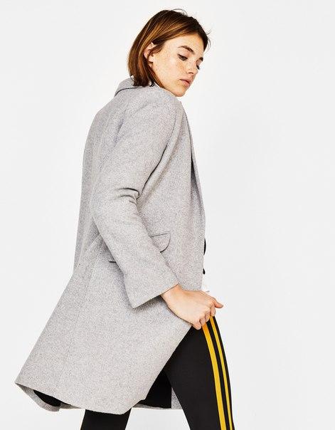 Длинное пальто прямого кроя