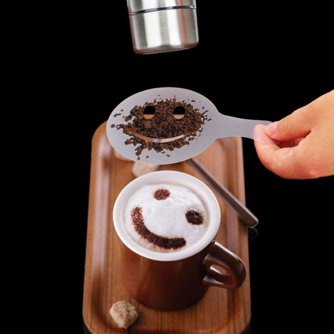 Клвые Трафаретики для кофе