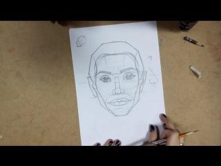 Как нарисовать портрет. ПОЛНЫЙ РАЗБОР. Пропорции головы и лица. Анатомия. 1 урок