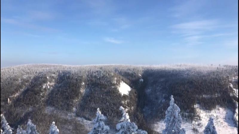 зимний вид со смотровой площадки