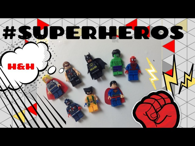 ЛЕГО. СУПЕРГЕРОИ. LEGO. SUPERHEROES. MAN SPIDERS. HALK. MINIHEROS. UNPACKING THE POSITION.
