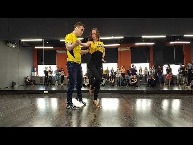 Andrey Kuznetsov Ksenia Glazyrina zouk demo 13.01.2018