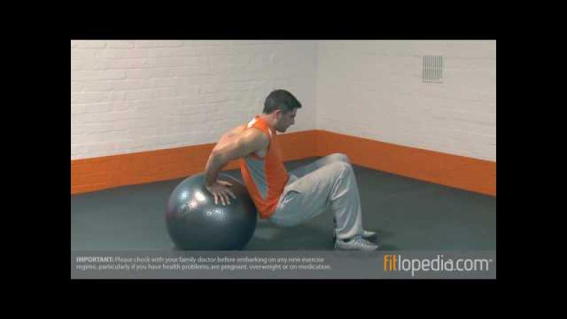 Swiss Ball Tricep Dip
