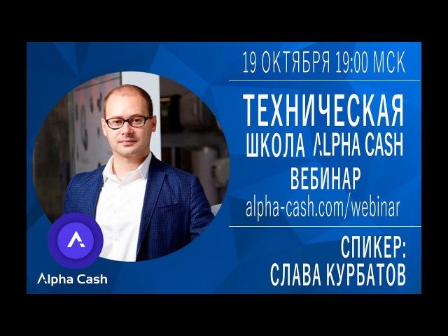 Вебинар - криптовалюты, техническая школа Alpha Cash
