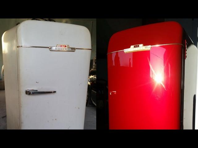 Кузовной ремонт холодильника ЗИЛ 1965 года.