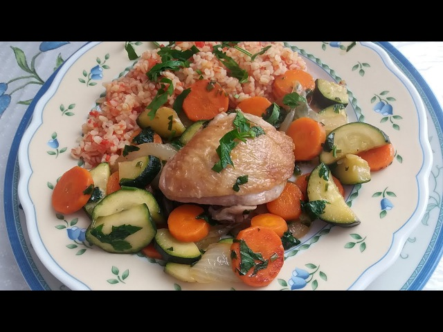 На Обед Булгур с овощами и мясом.