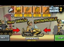 Hill Climb Racing 2 New Vehicle SNOWMOBILE Fully Upgraded