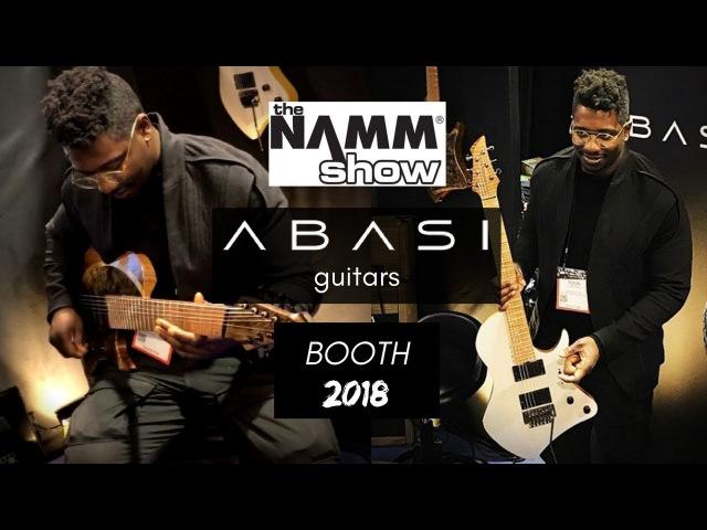 ABASI Guitars Booth @ NAMM 2018   Tosin Abasi Guitar Company! (Animals As Leaders)