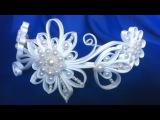 Ободок квилинг Завитки из косой бейки своими руками МК. DIY Quilling Bezel Curls from oblique beiki