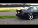 BMW E36 330i Alpina b3 straight pipes with miss shift exhaust