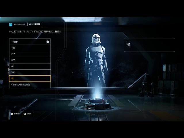 Star Wars Battlefront 2 Hidden Character Customisation Menu Clone Legions