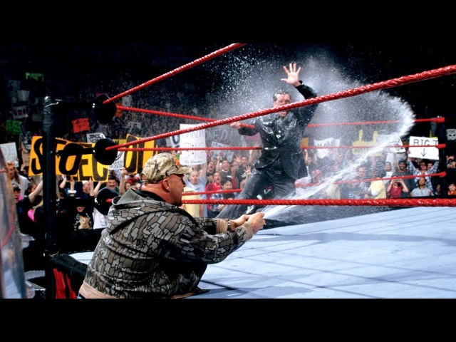 Stone Cold Gives The Corporation A Beer Bath