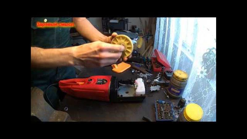 Электрическая цепная пила DDE. Ремонт. Замена шестерни.
