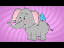 Розовый слон веселая детская песня и мультик