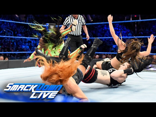 Video@rubyriottdaily | Charlotte Flair, Becky Lynch Naomi vs. The Riott Squad: SmackDown LIVE, Feb. 20, 2018