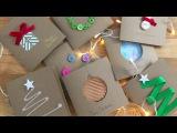 8 Idee per i biglietti di auguri di Natale - Tutorial