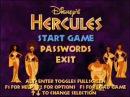 Disney's Hercules Action Game - Main Menu