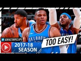 Russell Westbrook, Carmelo Anthony &amp Paul George BIG 3 Highlights vs Bulls (2017.10.28) - DOMINANT!